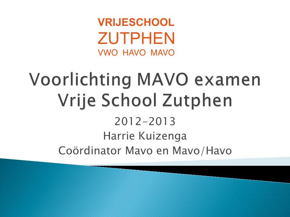 Voorlichting MAVO examen Vrije School Zutphen
