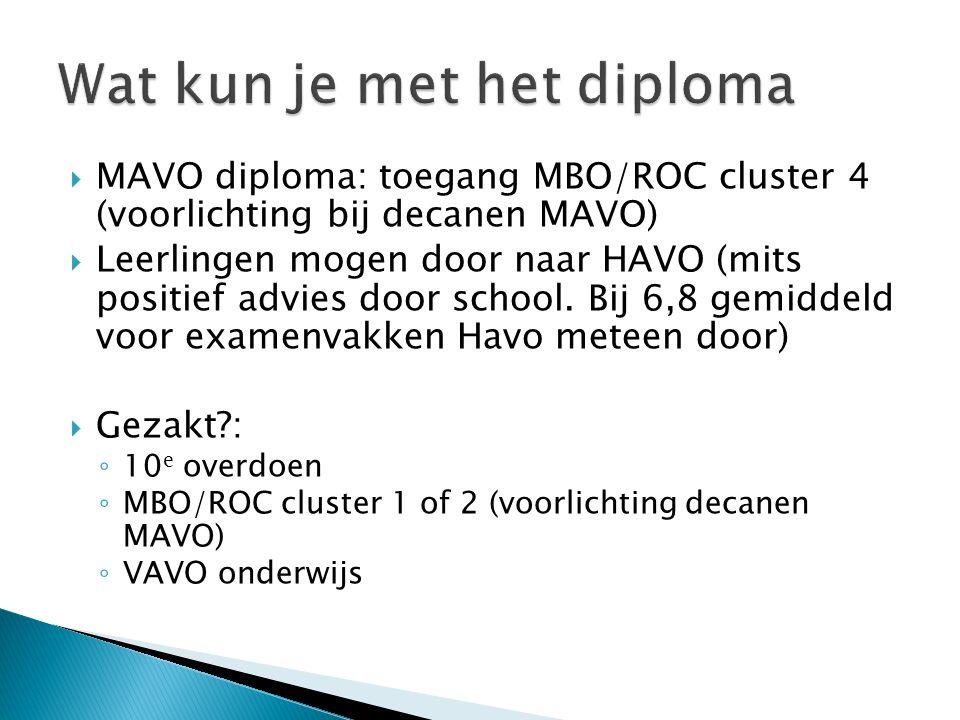 Wat kun je met het diploma
