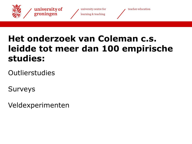 Het onderzoek van Coleman c. s