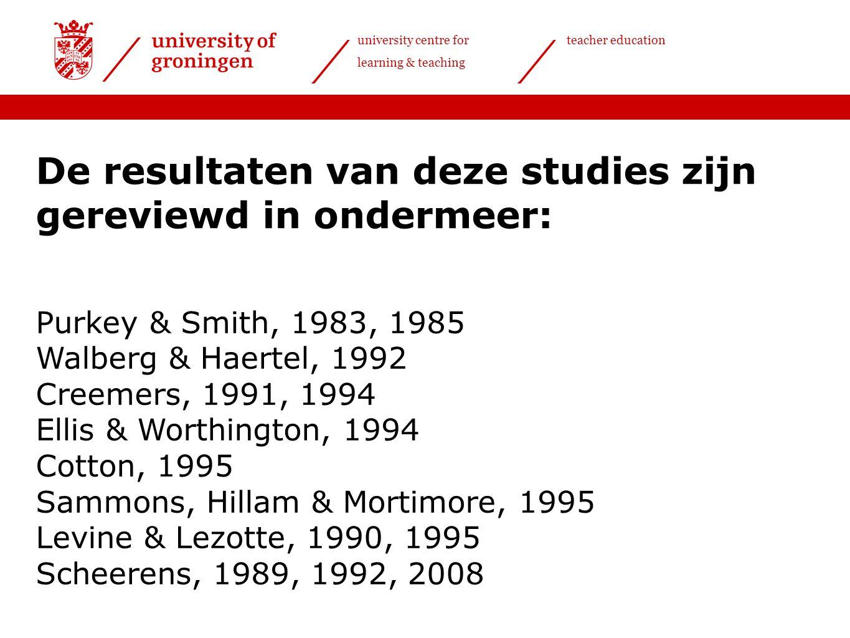 De resultaten van deze studies zijn gereviewd in ondermeer: