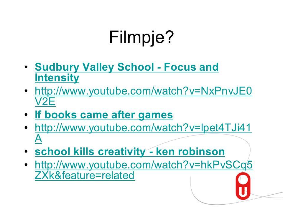 Filmpje Sudbury Valley School - Focus and Intensity