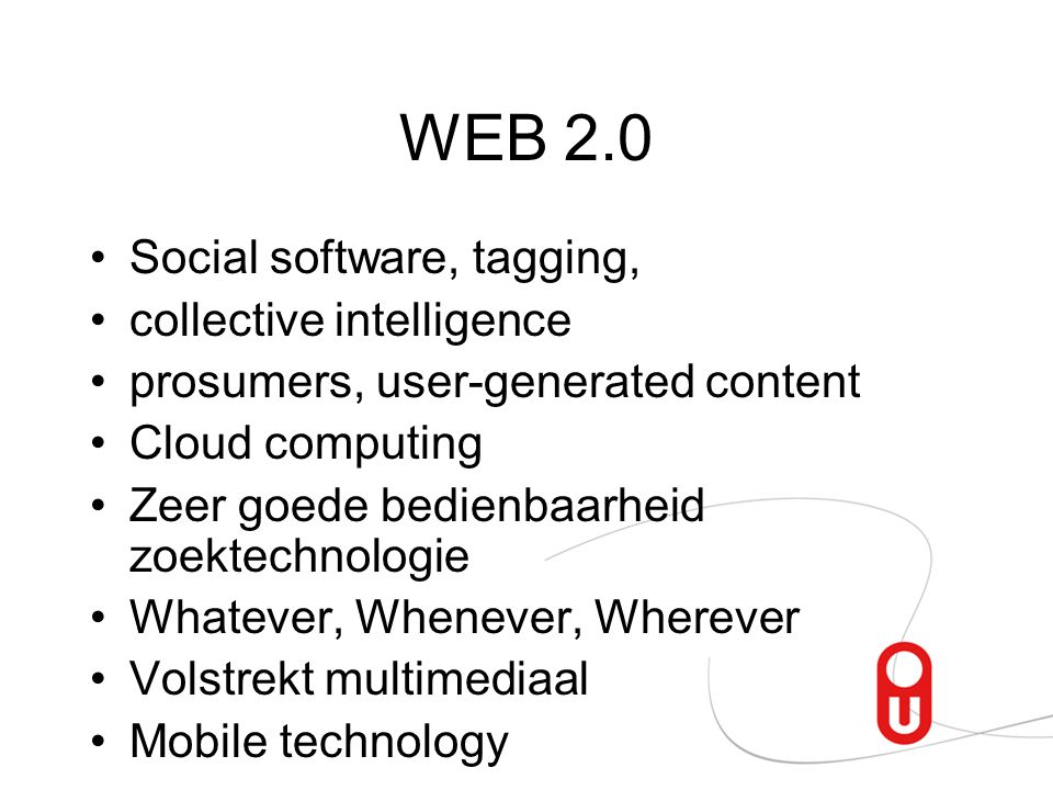 WEB 2.0 Social software, tagging, collective intelligence