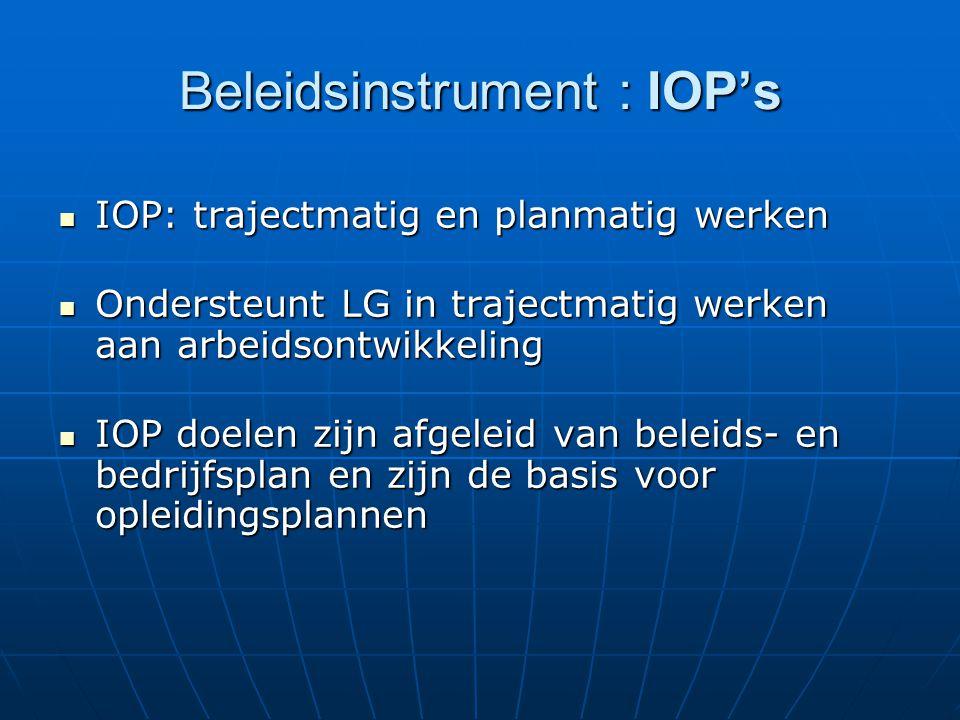 Beleidsinstrument : IOP's