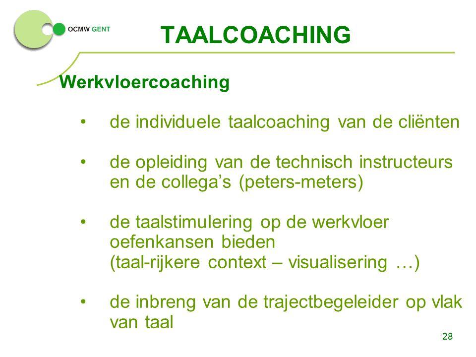 TAALCOACHING Werkvloercoaching