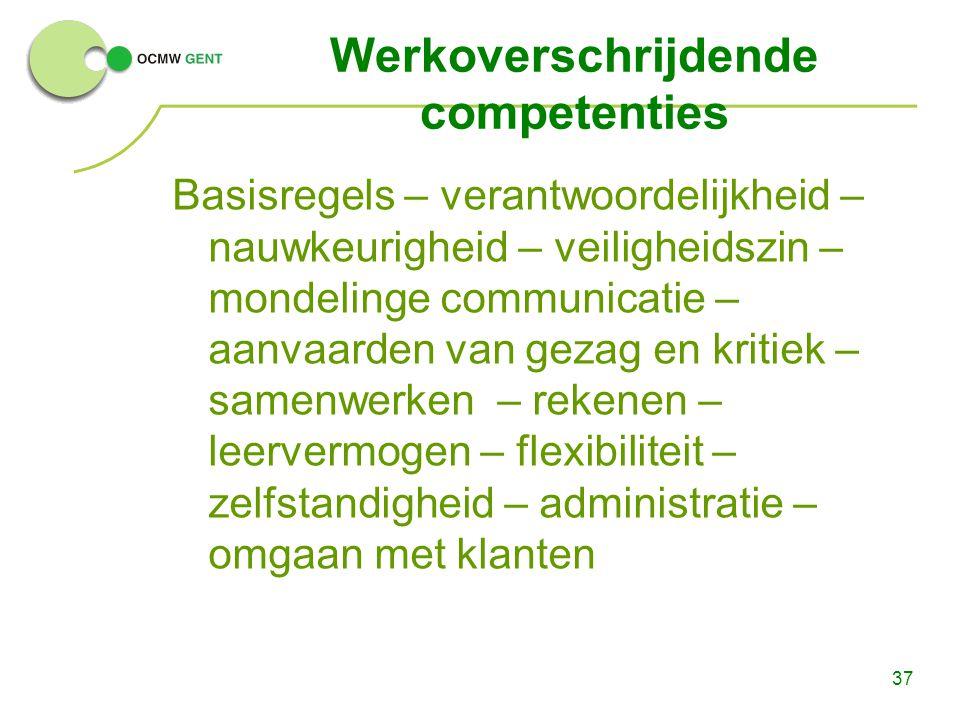 Werkoverschrijdende competenties