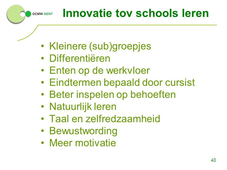 Innovatie tov schools leren