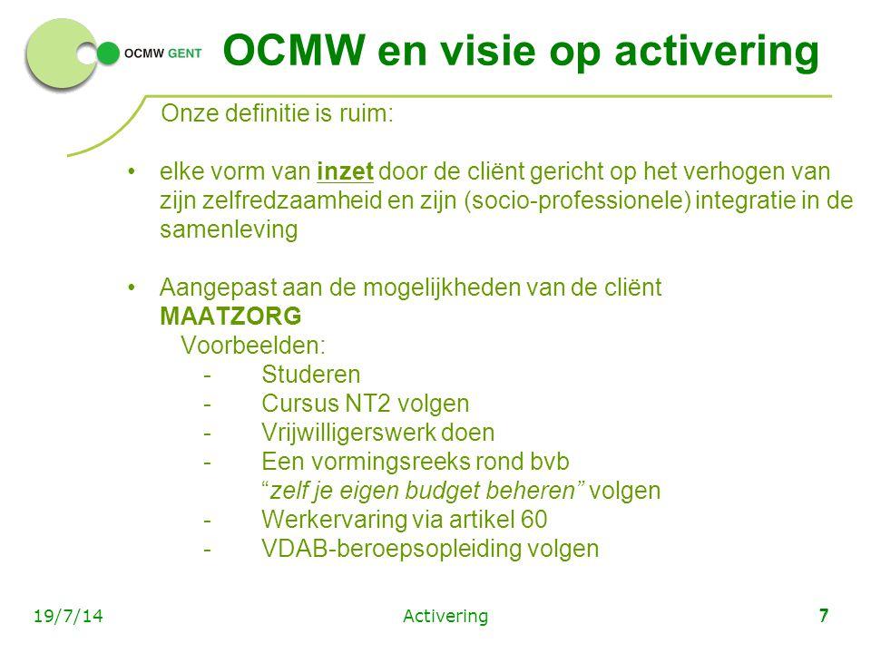 OCMW en visie op activering