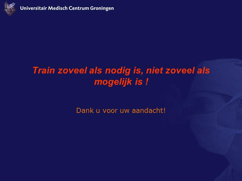 Train zoveel als nodig is, niet zoveel als mogelijk is !