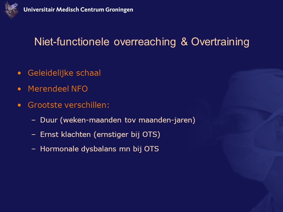 Niet-functionele overreaching & Overtraining