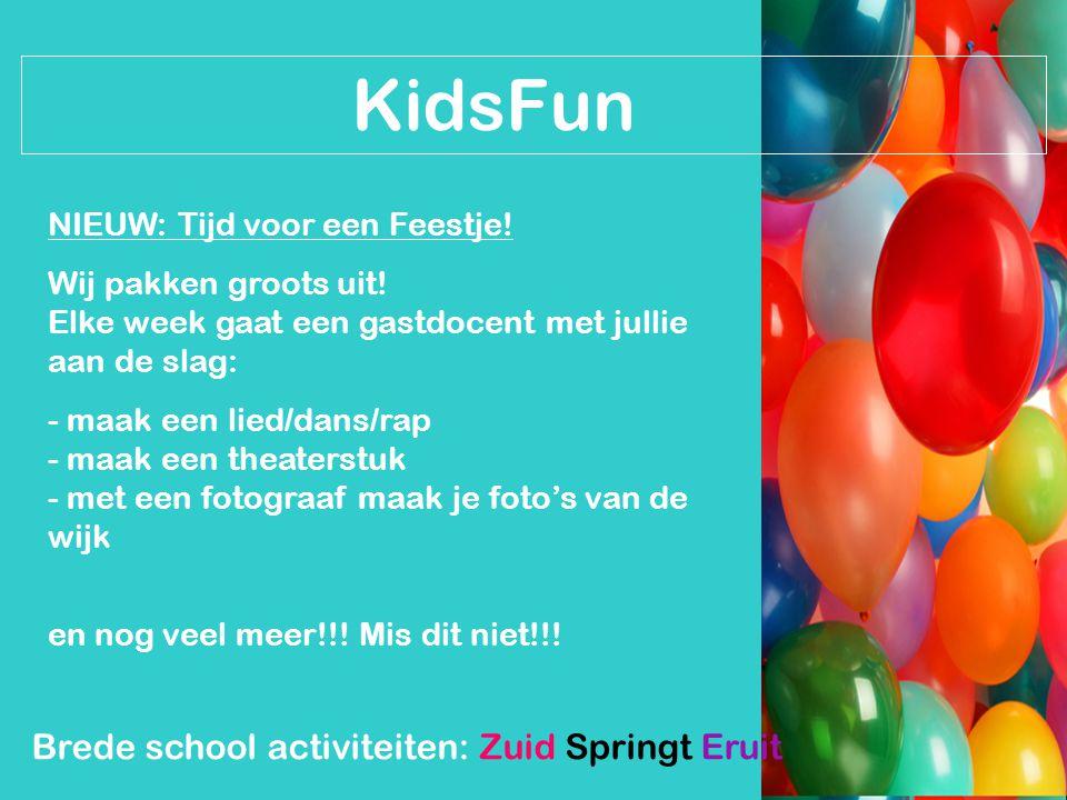 KidsFun Brede school activiteiten: Zuid Springt Eruit