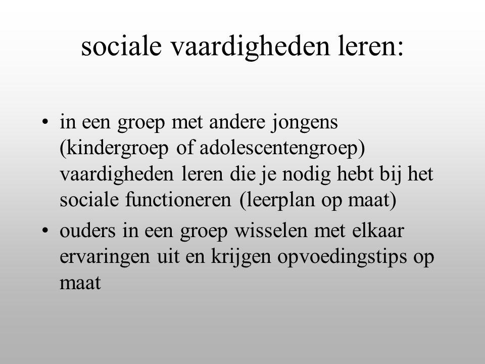 sociale vaardigheden leren: