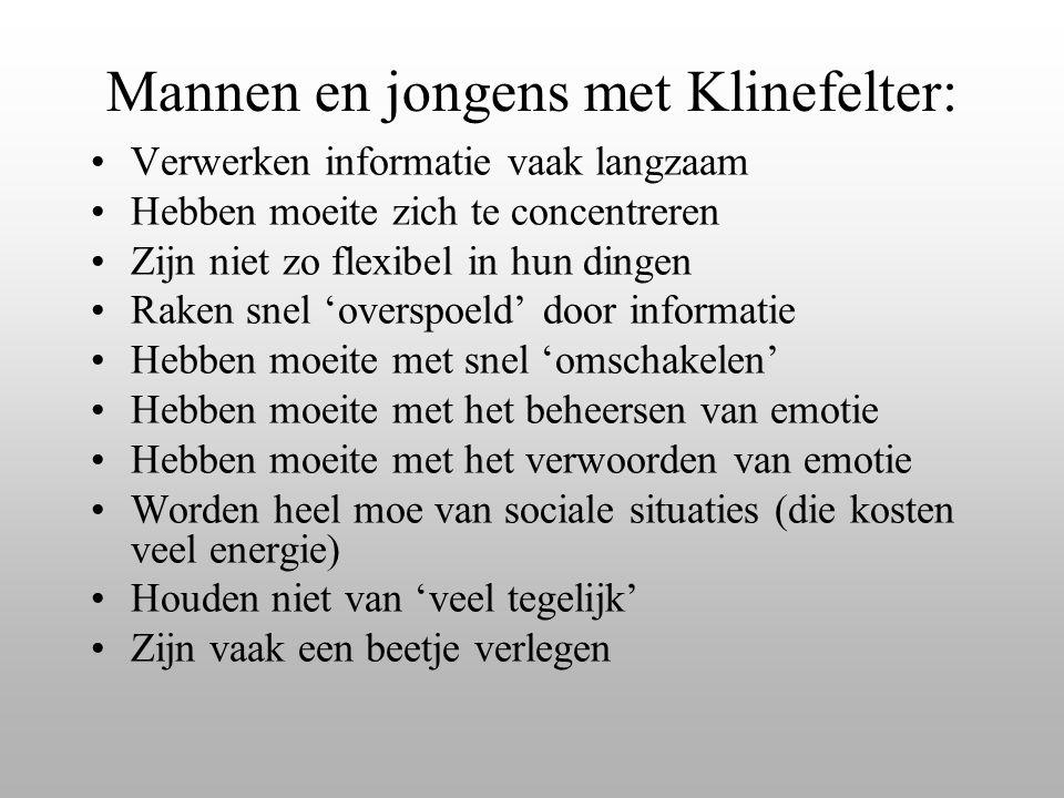 Mannen en jongens met Klinefelter:
