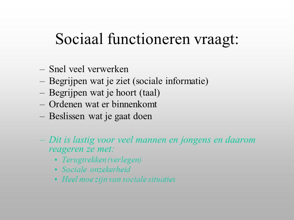 Sociaal functioneren vraagt: