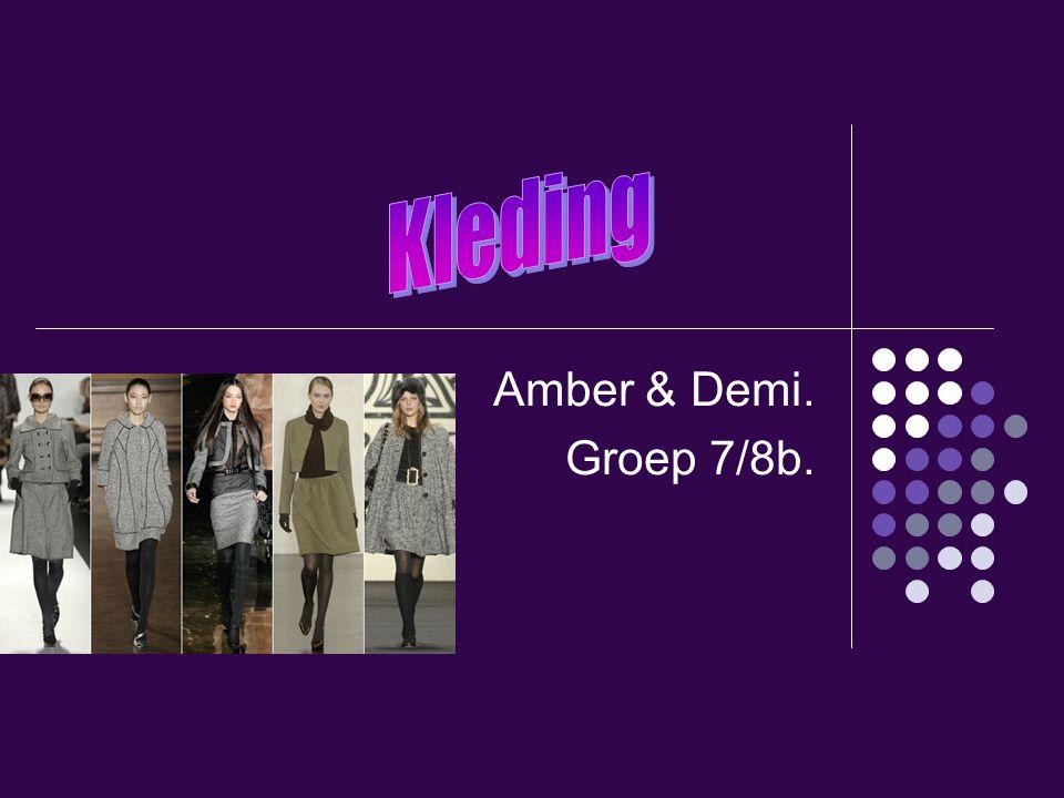 Kleding Amber & Demi. Groep 7/8b.