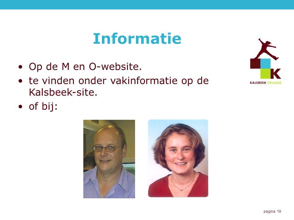 Informatie Op de M en O-website.