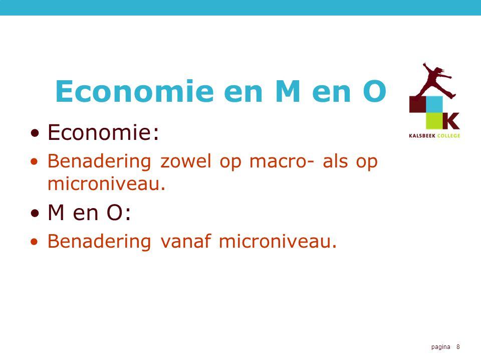 Economie en M en O Economie: M en O: