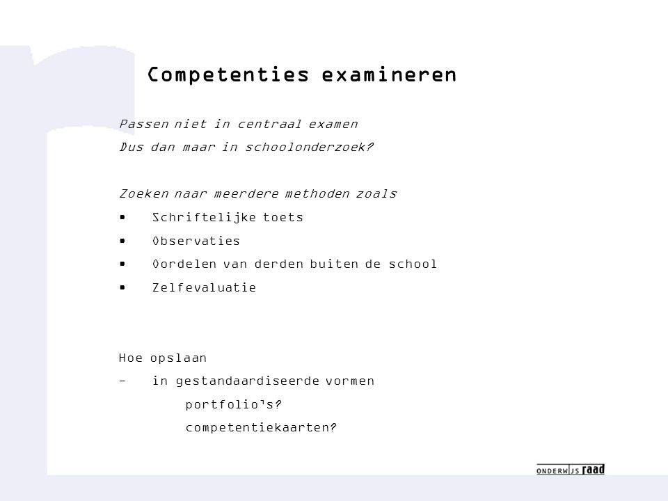 Competenties examineren