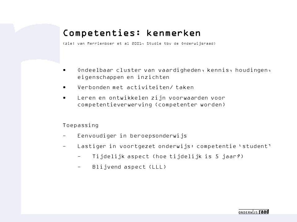 Competenties: kenmerken