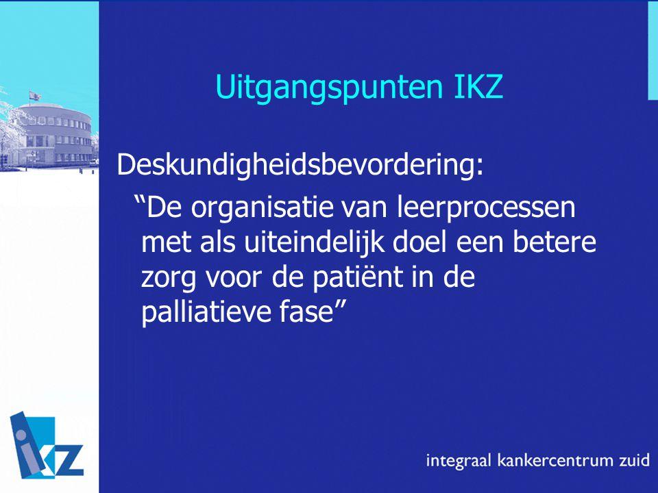 Uitgangspunten IKZ Deskundigheidsbevordering:
