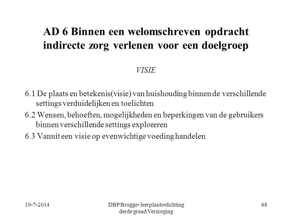 DBP Brugge- leerplantoelichting derde graad Verzorging