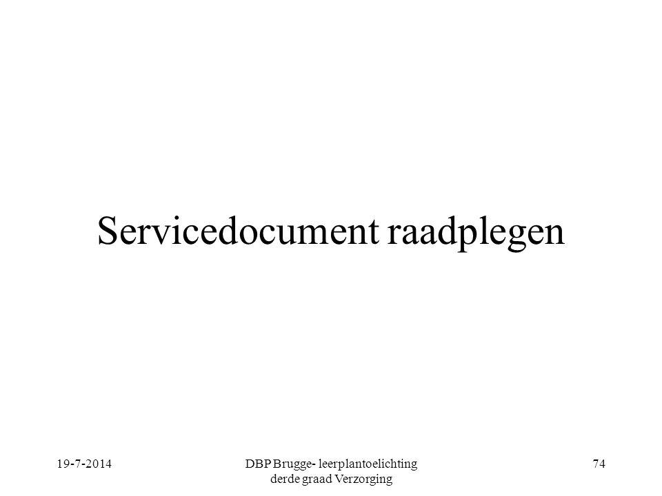 Servicedocument raadplegen