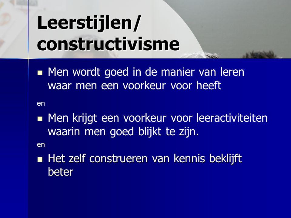 Leerstijlen/ constructivisme