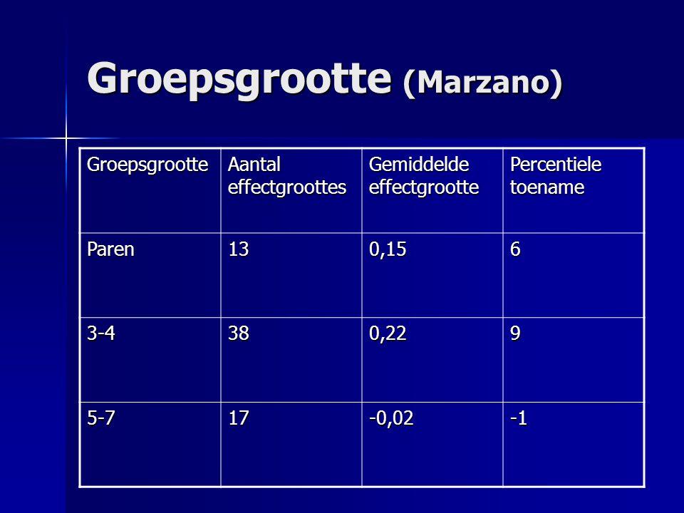 Groepsgrootte (Marzano)