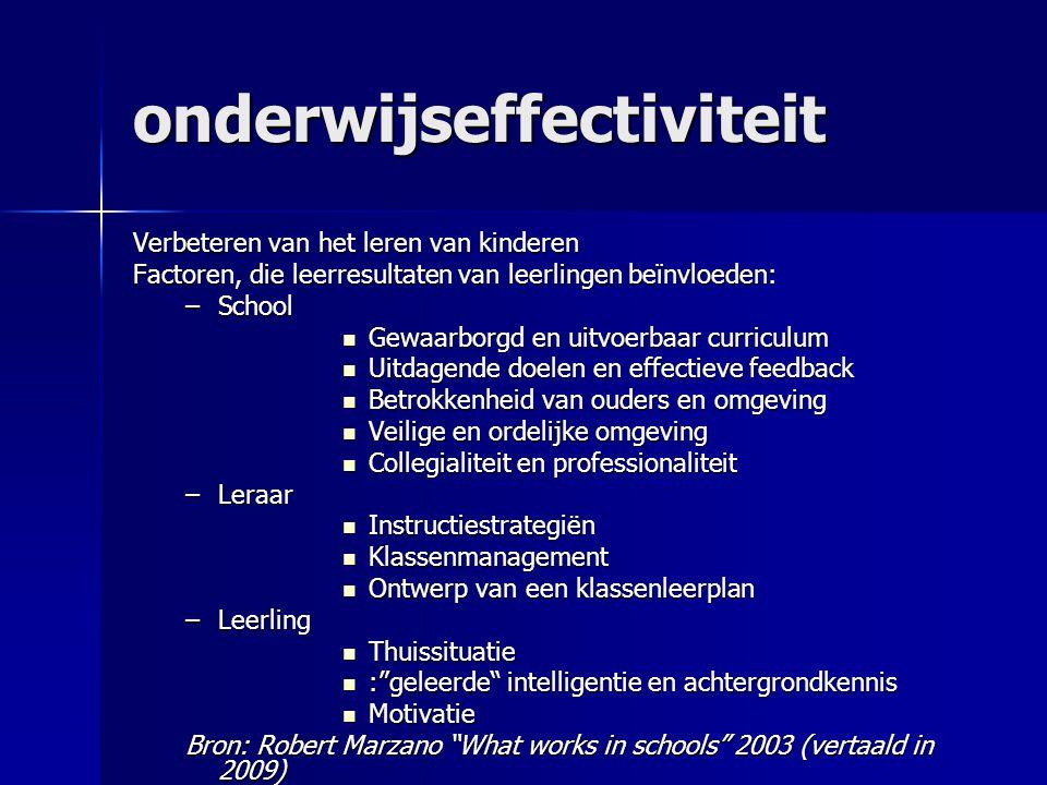 onderwijseffectiviteit
