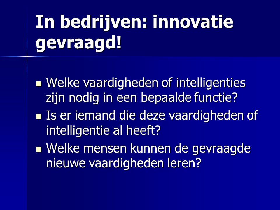In bedrijven: innovatie gevraagd!