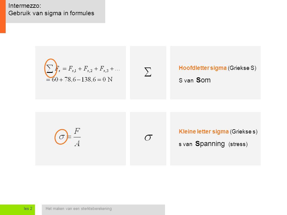 Intermezzo: Gebruik van sigma in formules