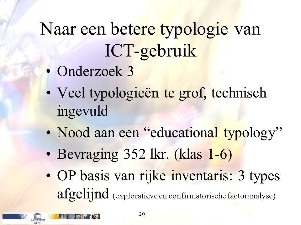 Naar een betere typologie van ICT-gebruik