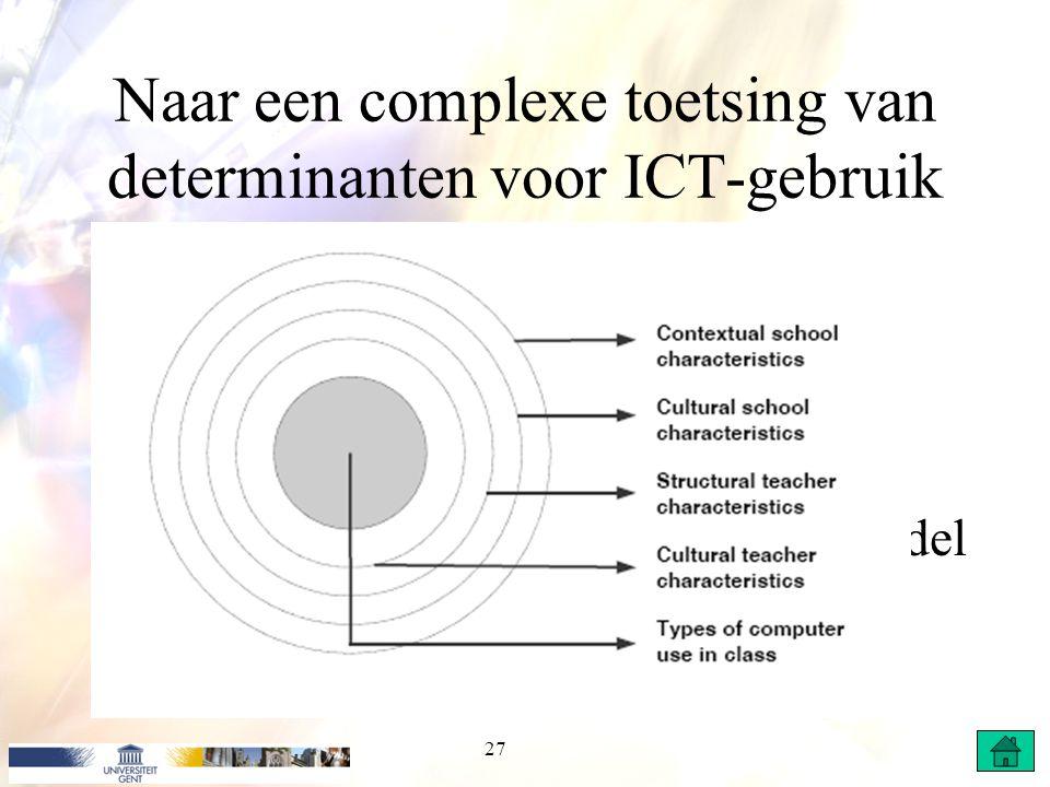 Naar een complexe toetsing van determinanten voor ICT-gebruik