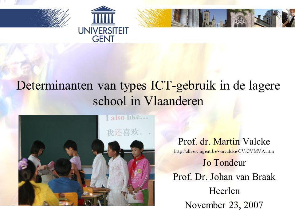 Determinanten van types ICT-gebruik in de lagere school in Vlaanderen