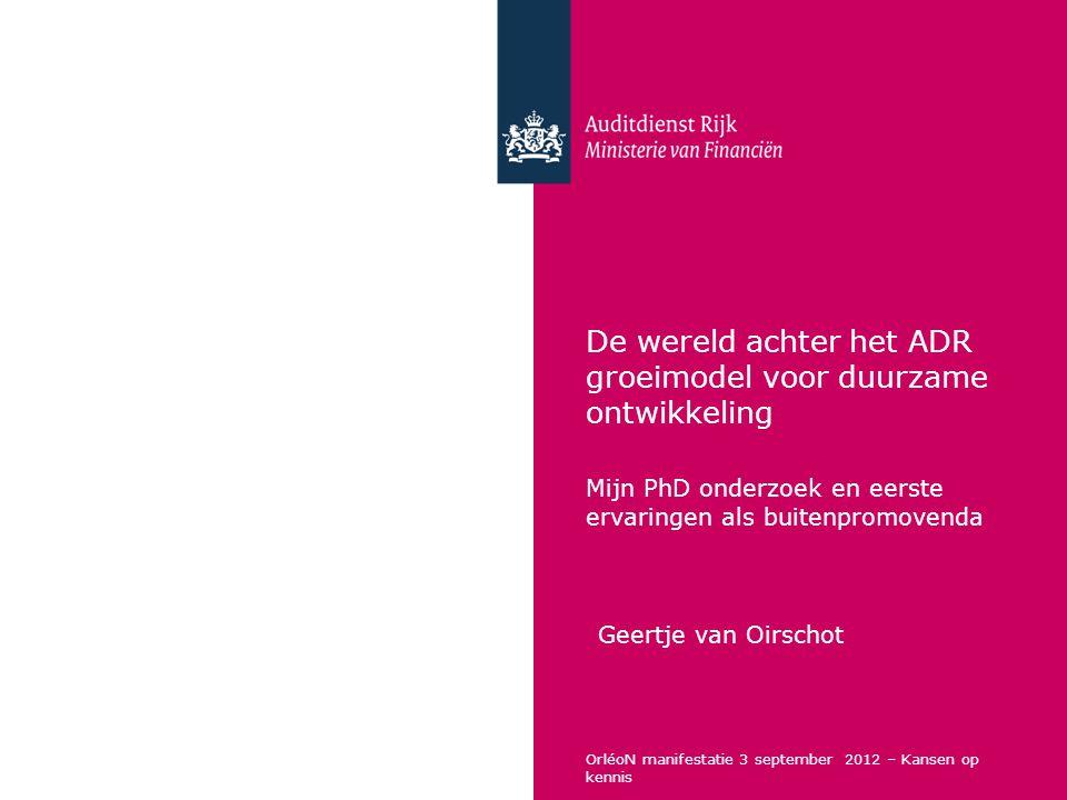 De wereld achter het ADR groeimodel voor duurzame ontwikkeling