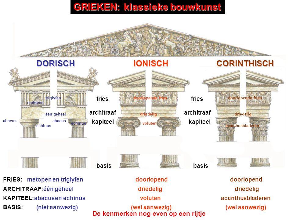 GRIEKEN: klassieke bouwkunst