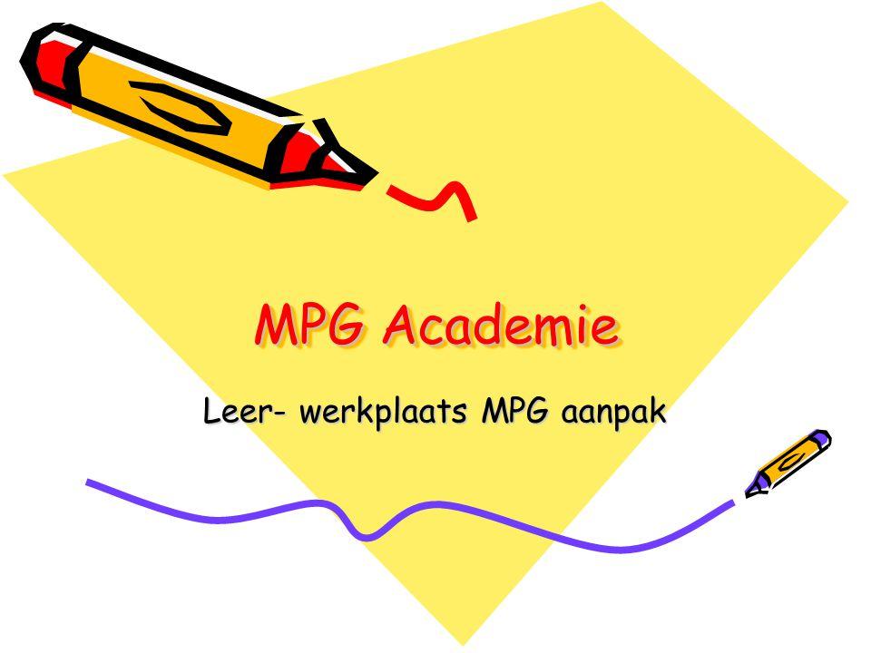 Leer- werkplaats MPG aanpak