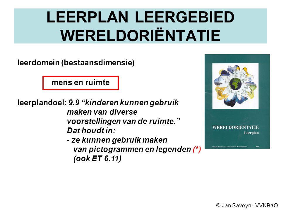 LEERPLAN LEERGEBIED WERELDORIËNTATIE