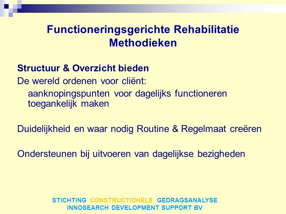 Functioneringsgerichte Rehabilitatie Methodieken