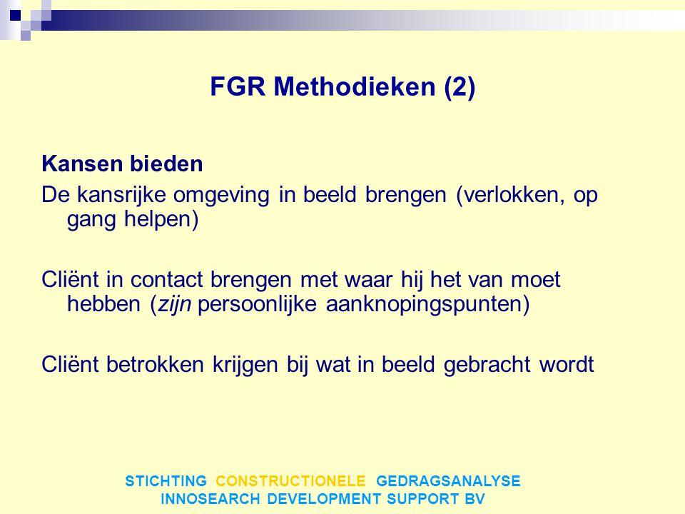 FGR Methodieken (2) Kansen bieden