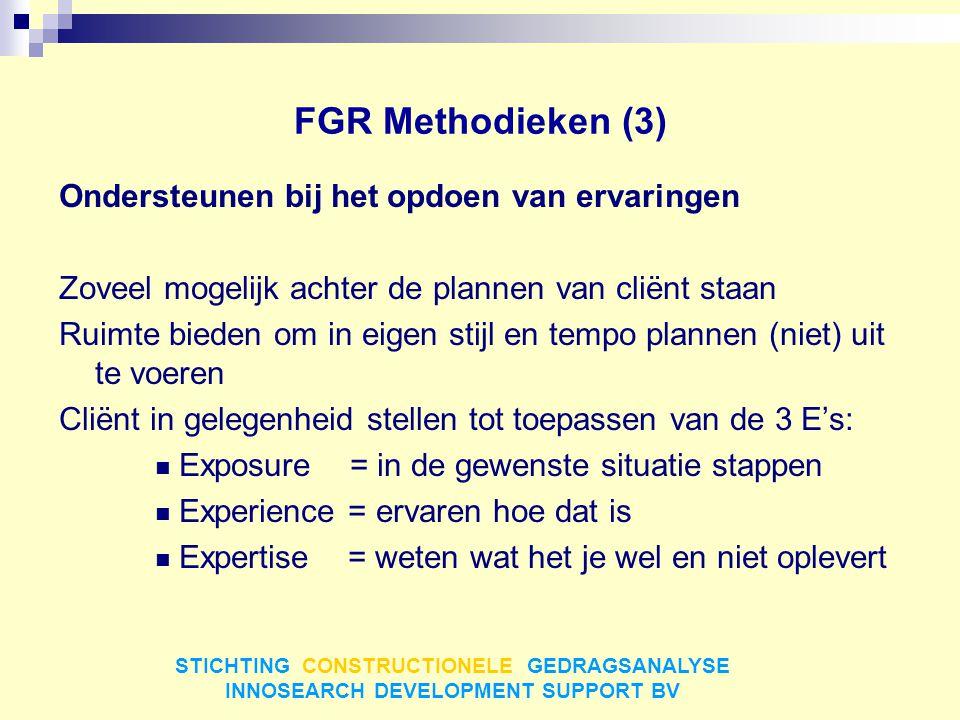 FGR Methodieken (3) Ondersteunen bij het opdoen van ervaringen