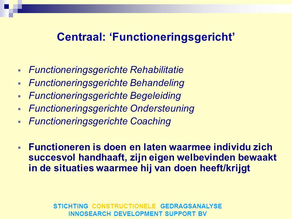 Centraal: 'Functioneringsgericht'