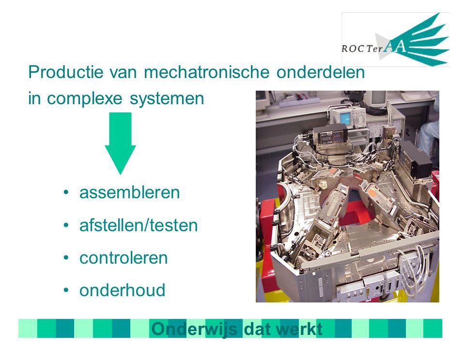 Productie van mechatronische onderdelen in complexe systemen