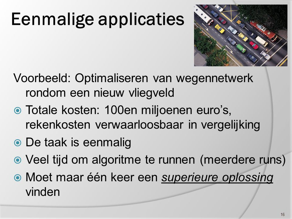 Eenmalige applicaties