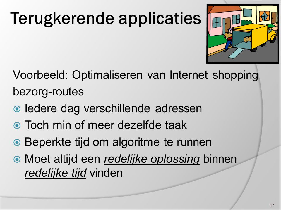 Terugkerende applicaties