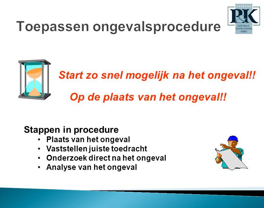 Toepassen ongevalsprocedure