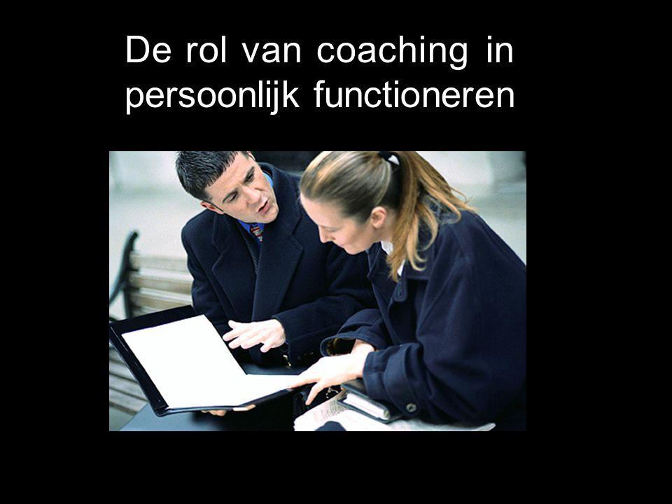 De rol van coaching in persoonlijk functioneren