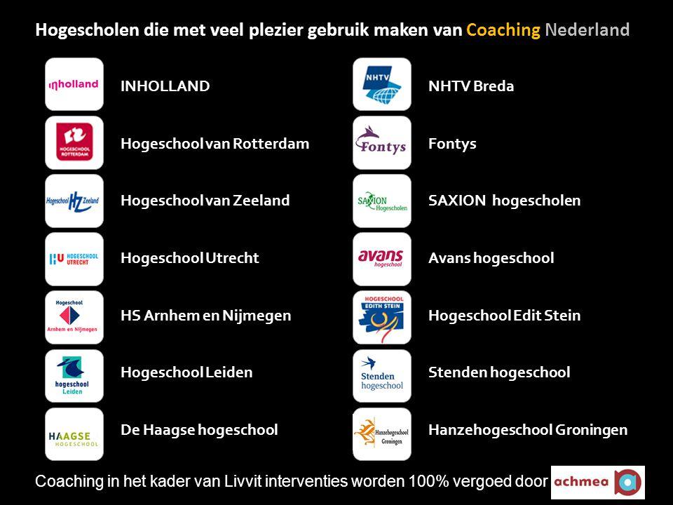 Hogescholen die met veel plezier gebruik maken van Coaching Nederland
