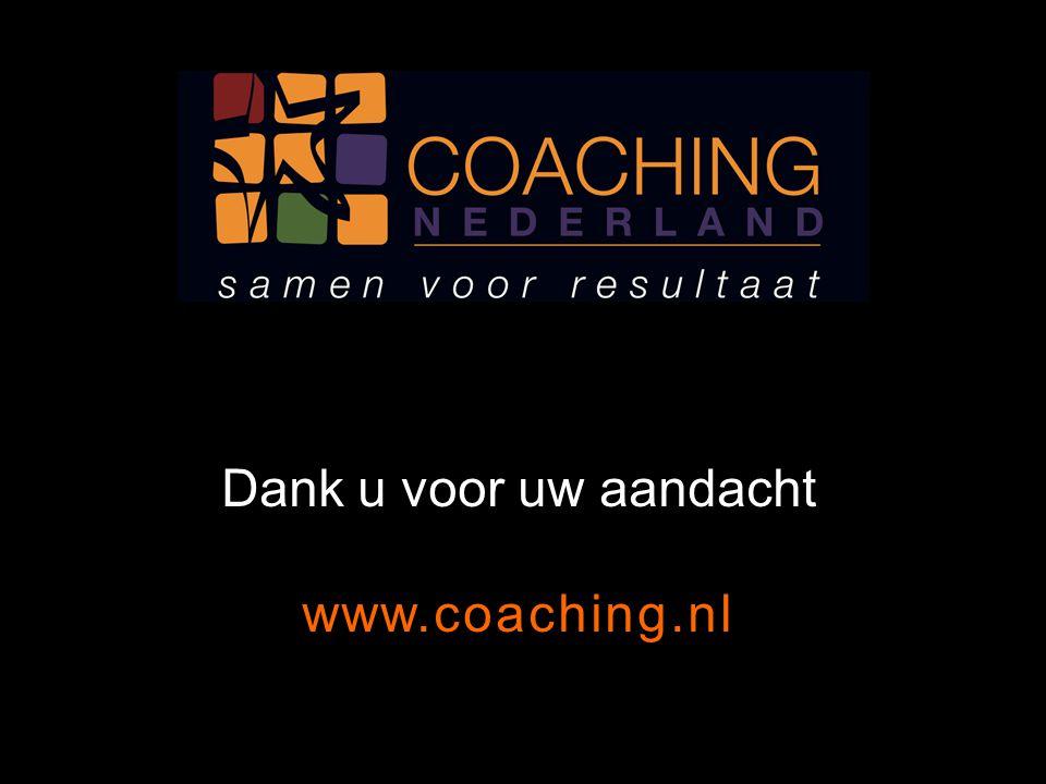 Dank u voor uw aandacht www.coaching.nl