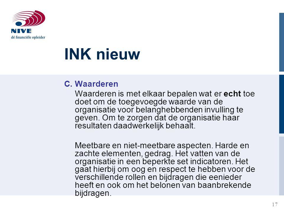 INK nieuw C. Waarderen.
