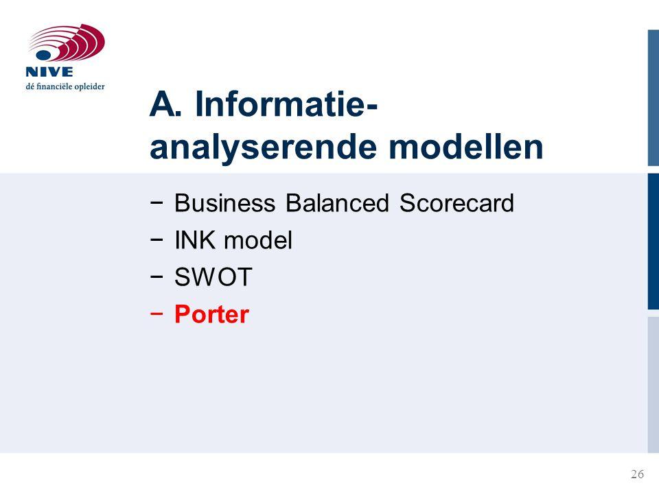 A. Informatie-analyserende modellen